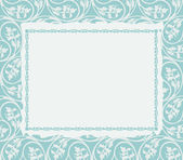 Frame on a ornamental background — Stock Vector