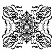 Stockvektor : Ornamental motif with swirling decorative elements