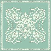 Wervelende patroon, floral elementen — Stockvector
