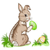 Vektor-Illustration-Ester-bunny — Stockvektor