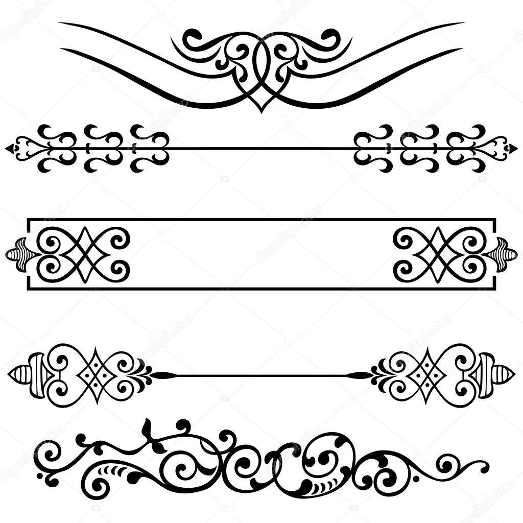 Vector set calligraphic design elements — Stock Vector © nairine ...
