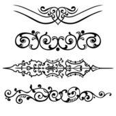 Conjunto roda ornamento de elementos decorativos — Vetorial Stock