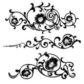 Vector swirling elements for design flowers and ornaments floral — Stock Vector
