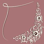 Swirling decorative elements. Design frame — Stock Vector