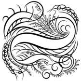 Calligraphic swirling decorative elements — Stock Vector