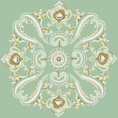 Vintage swirling floral pattern, abstract ornament — Stock Vector
