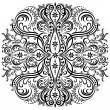 Swirling pattern, decorative ornament — Vector de stock #22826424