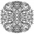 Swirling pattern, decorative ornament — Wektor stockowy #22826424