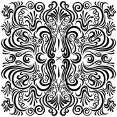 Design pattern with swirling floral decorative ornament — Stock Vector