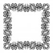 Vintage frame with swirling decorative elements. — Stock Vector