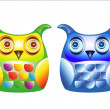 Two cute owls — Stock Photo #28339511