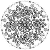 Mandala pattern with decorative floral elements — Stock Vector