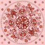 Floral mandala with decorative ornament — Stock Vector