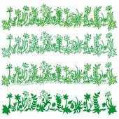 Banners set of green grass  — Stock Vector
