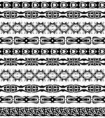 Set of seamless lase trims border pattern — Stock Vector
