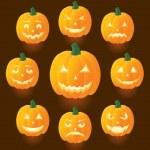 Jack O Lanterns — Stock Vector #10529029