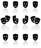 Máscaras teatrales — Vector de stock