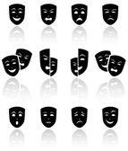 Theater masken — Stockvektor