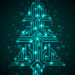 Digital Christmas tree — Stock Vector #13070813