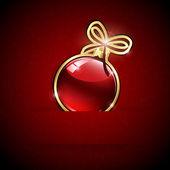 Red Christmas ball — Stock Vector