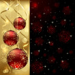 Red Christmas balls — Vector de stock #13663485