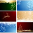 Set of Christmas cards — Stock Vector #13811362