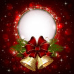 Gold Christmas bells — Stock Vector