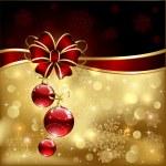 弓とクリスマス ボール — ストックベクタ