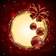 Vecteur: Christmas background with red bow