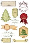 Christmas labels — Stockvektor