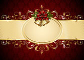 Christmas floral background — Stock Vector