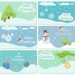 Set of Christmas cards — Stock Vector #14703865
