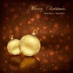 İki Noel topları — Stok Vektör