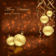 Royalty-Free Stock Imagen vectorial: Christmas balls on brown background
