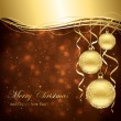 Golden Christmas balls - Stock Vector