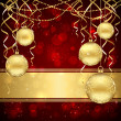 Royalty-Free Stock Vector Image: Christmas decoration with golden balls