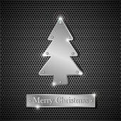 Iron Christmas tree — Stock Vector