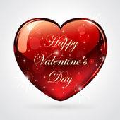 Shiny valentines heart — Stock Vector