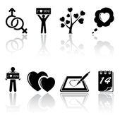 Valentines icons — Stock Vector
