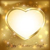 Golden heart — Stockvector
