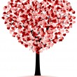 Stock Vector: Hearts tree