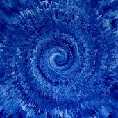 Blue spiral — Stock Photo