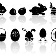 Royalty-Free Stock Vector Image: Easter icons