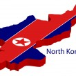 North Korea flag — Stock Vector