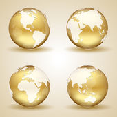 Golden Earth — Stock Vector