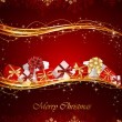 Royalty-Free Stock Векторное изображение: Christmas background with presents