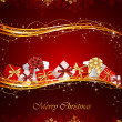 Royalty-Free Stock ベクターイメージ: Christmas background with presents