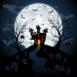Royalty-Free Stock Imagem Vetorial: Halloween night