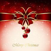 červené vánoční koule — Stock vektor