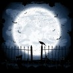 Crow in cemetery — Stock Vector